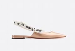 j'a     patent calfskin ballet pump  in nude patent calfskin 1 cm heel women