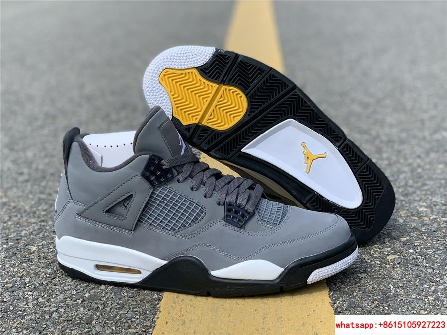 air jordan 4 retro mens shoe Cool Grey/Dark Charcoal/Varsity jordan shoes  1