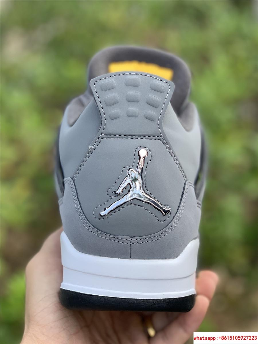 air jordan 4 retro mens shoe Cool Grey/Dark Charcoal/Varsity jordan shoes  9