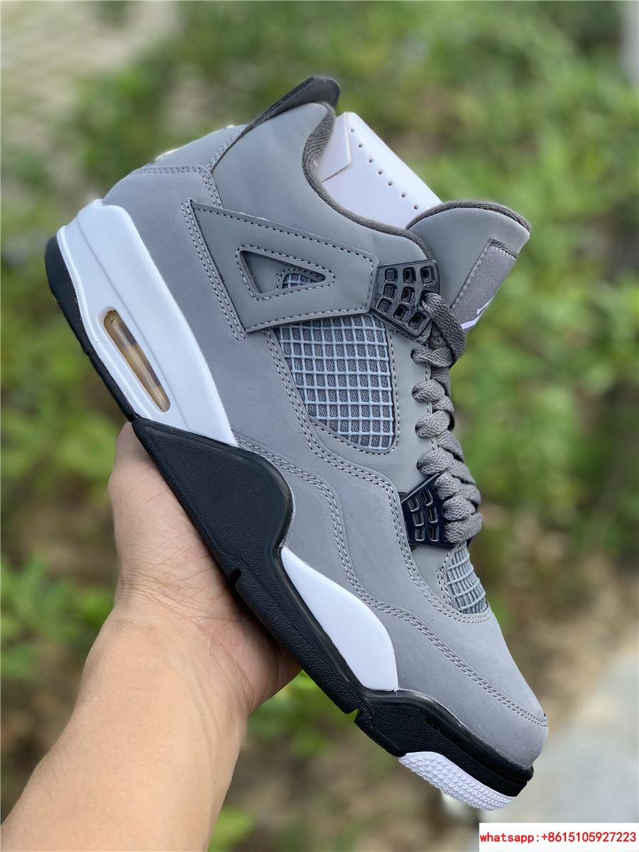 air jordan 4 retro mens shoe Cool Grey/Dark Charcoal/Varsity jordan shoes  14