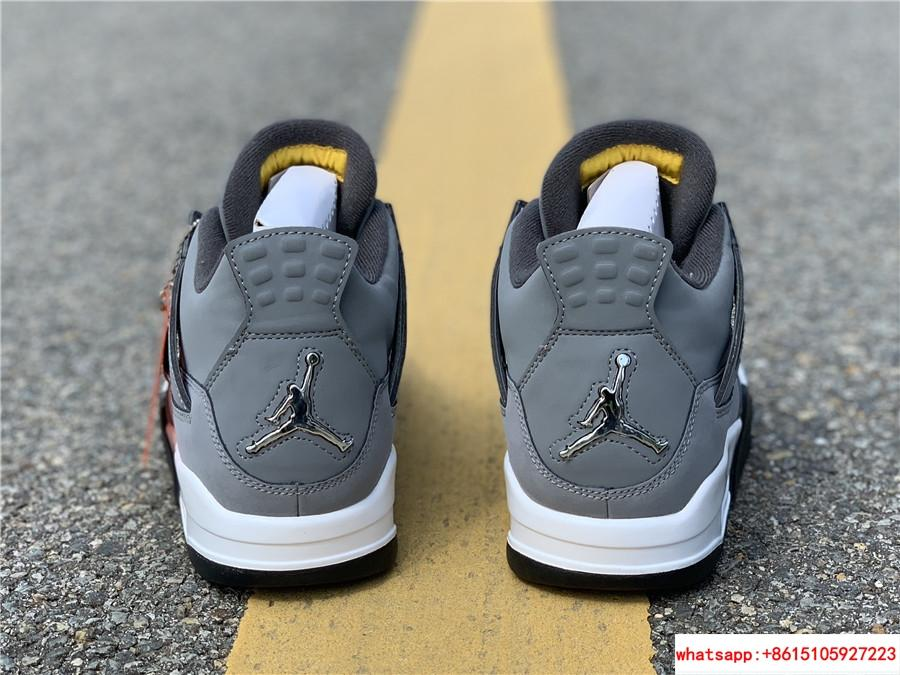 air jordan 4 retro mens shoe Cool Grey/Dark Charcoal/Varsity jordan shoes  16