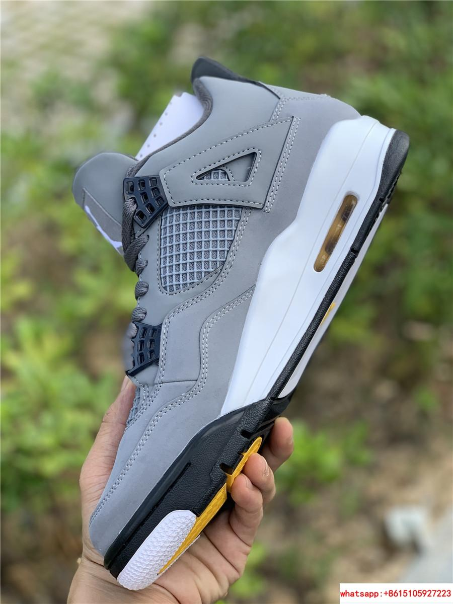 air jordan 4 retro mens shoe Cool Grey/Dark Charcoal/Varsity jordan shoes  18