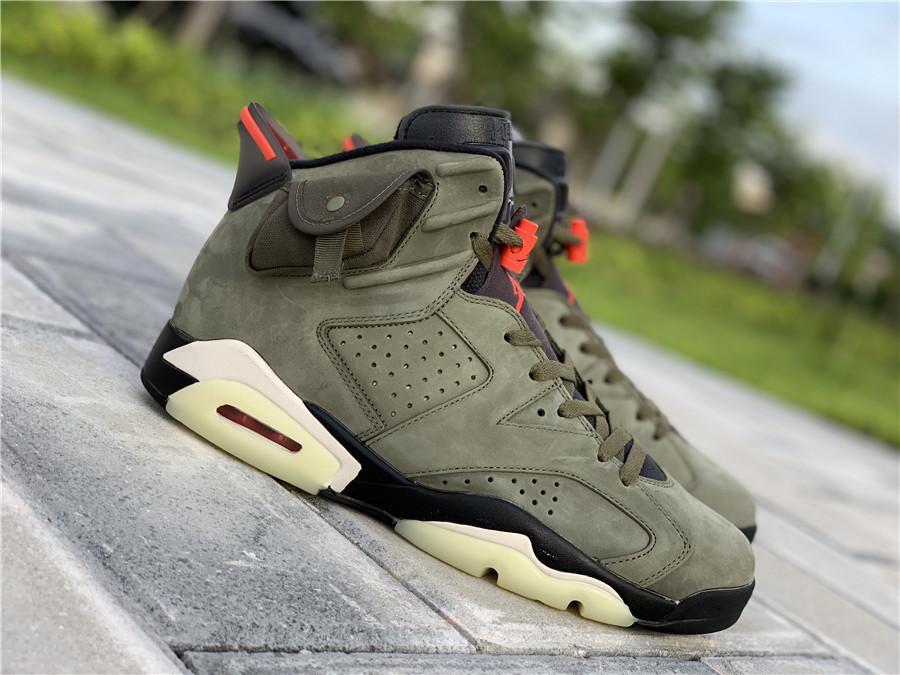 first rate 43e49 adc98 Nike Air Jordan 6 Travis Scott Cactus Jack Olive CN1084-200 ...