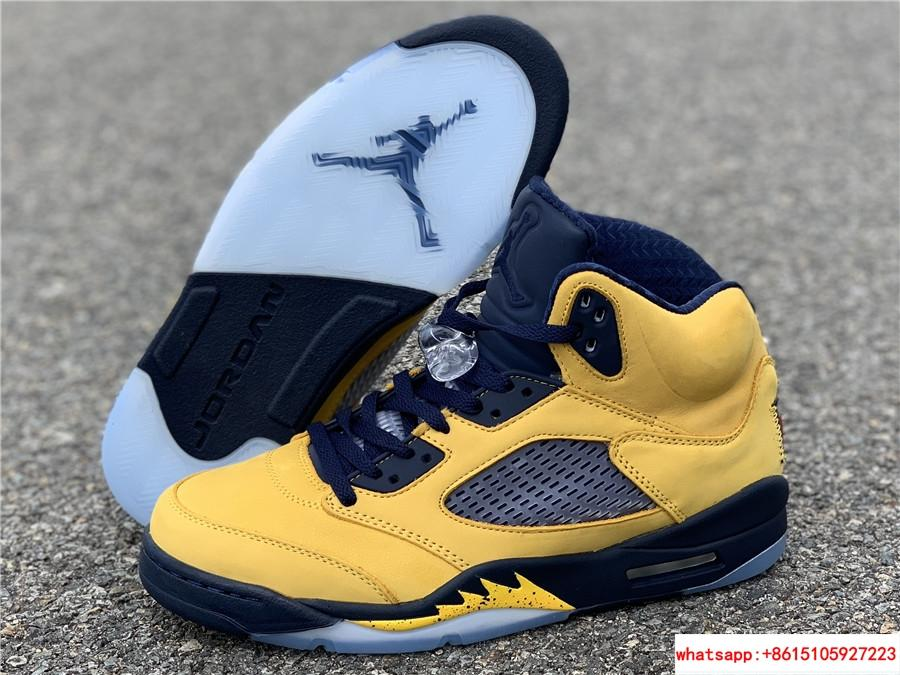 23be95aac77 Nike Air Jordan 5 Retro SE Michigan Fab Five Armarillo Yellow CQ9541 ...