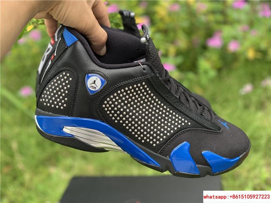 New Air Jordan Retro 14 Supreme Black Blue Men's Basketball BV7630-004 6