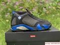 New Air Jordan Retro 14 Supreme Black Blue Men's Basketball BV7630-004 7