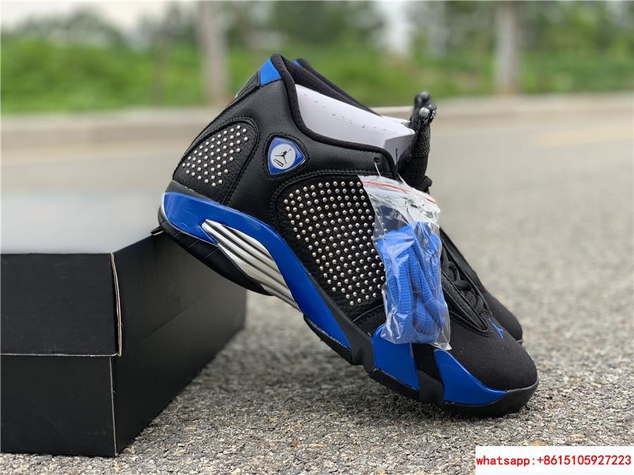 New Air Jordan Retro 14 Supreme Black Blue Men's Basketball BV7630-004 8