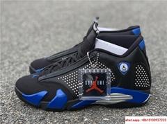 New Air Jordan Retro 14 Supreme Black Blue Men's Basketball BV7630-004