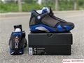 New Air Jordan Retro 14 Supreme Black Blue Men's Basketball BV7630-004 12