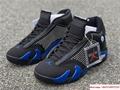New Air Jordan Retro 14 Supreme Black Blue Men's Basketball BV7630-004 14