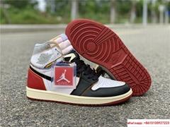 Nike Air Jordan 1 Retro High OG Union Black Toe Red New BV1300-106