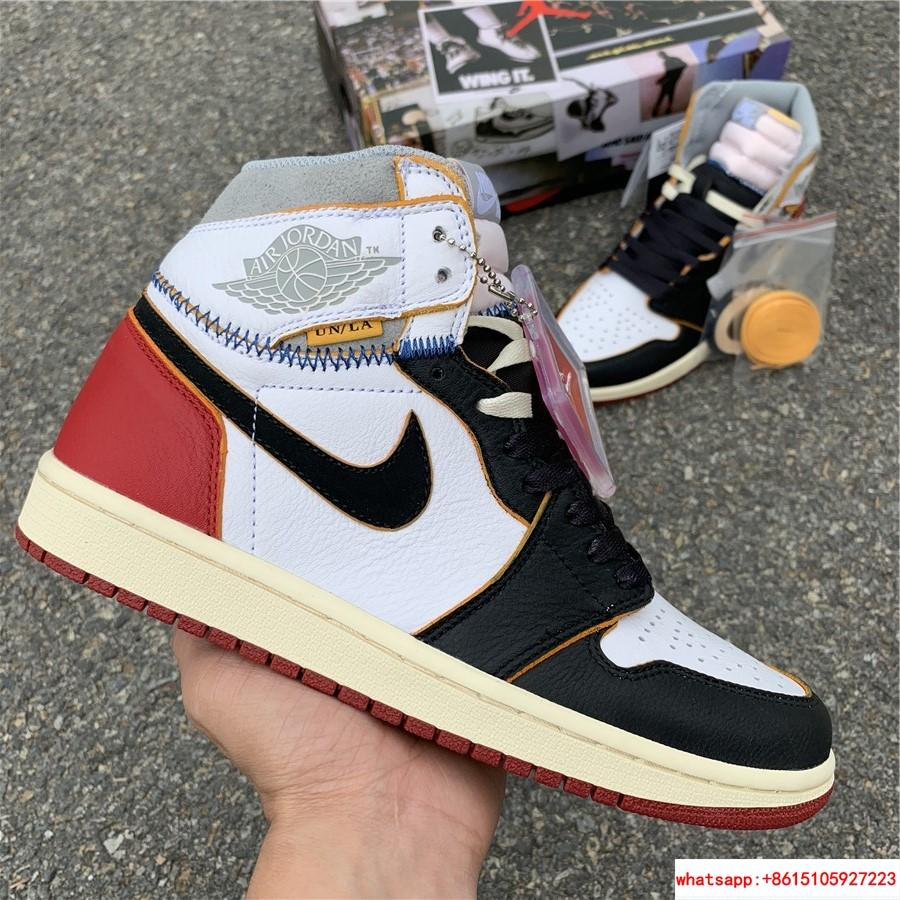 Nike Air Jordan 1 Retro High OG Union Black Toe Red New BV1300-106 19