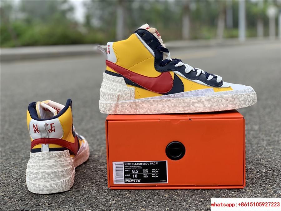 Sacai Nike Blazer Mid Varsity Maize Snow Beach BV0072-700  MAIZE NAVY 5
