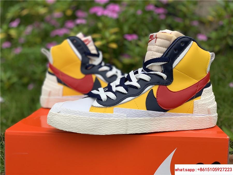 Sacai Nike Blazer Mid Varsity Maize Snow Beach BV0072-700  MAIZE NAVY 10