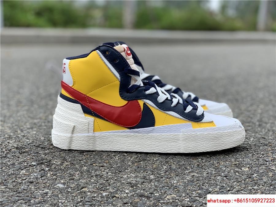 Sacai Nike Blazer Mid Varsity Maize Snow Beach BV0072-700  MAIZE NAVY 14