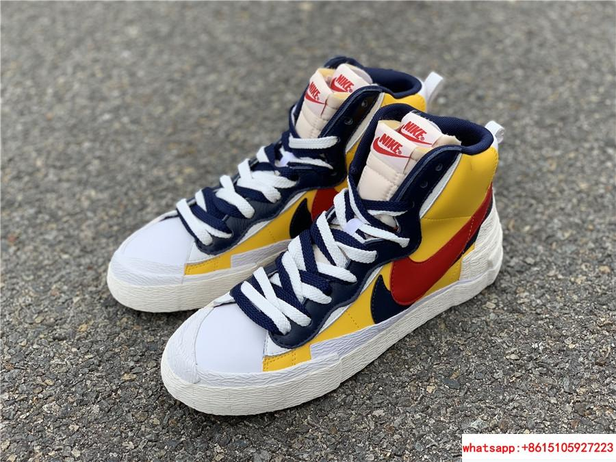 Sacai Nike Blazer Mid Varsity Maize Snow Beach BV0072-700  MAIZE NAVY 19