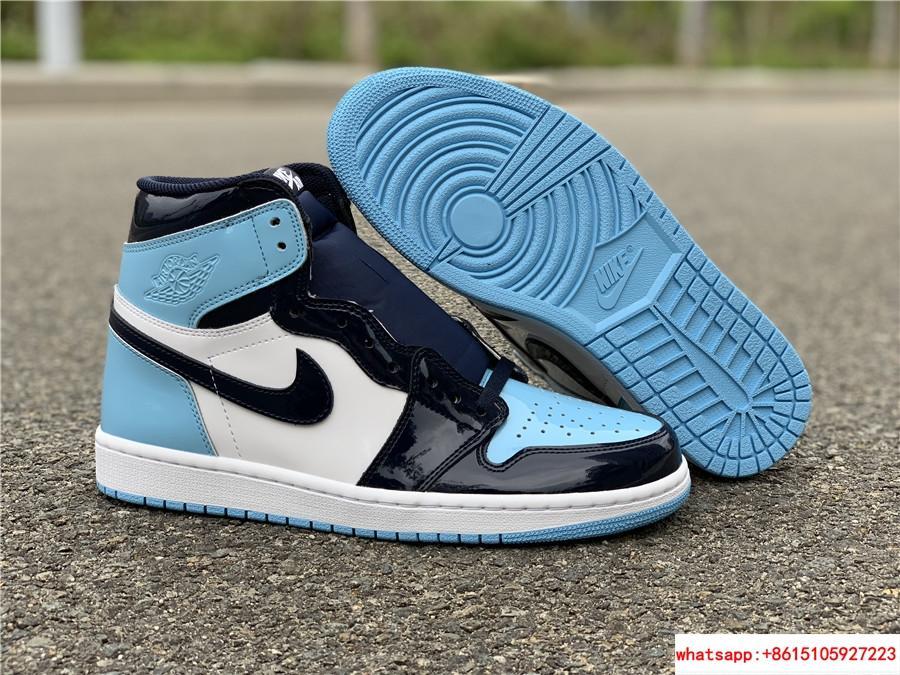 Air Jordan Womens Retro 1 High Og Patent Unc Obsidian Blue Chill Cd0461 401 Us 5 5 14 5 Cd0461 401 China Manufacturer Athletic