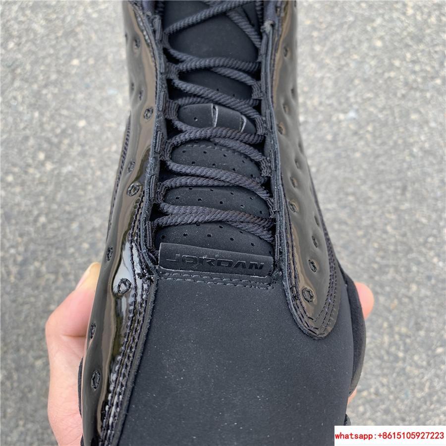 Nike Air Jordan 13 Retro Black Cap and Gown Men's Basketball Shoes 414571-012 4