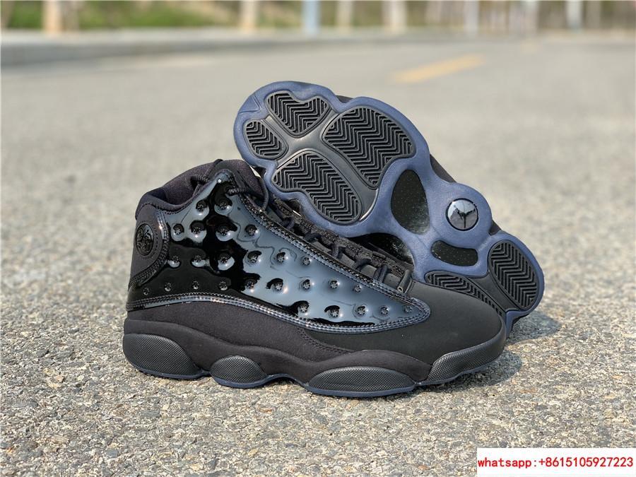 Nike Air Jordan 13 Retro Black Cap and Gown Men's Basketball Shoes 414571-012 6