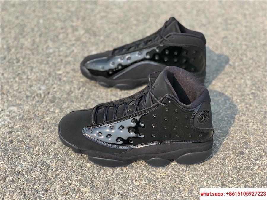 Nike Air Jordan 13 Retro Black Cap and Gown Men's Basketball Shoes 414571-012 11