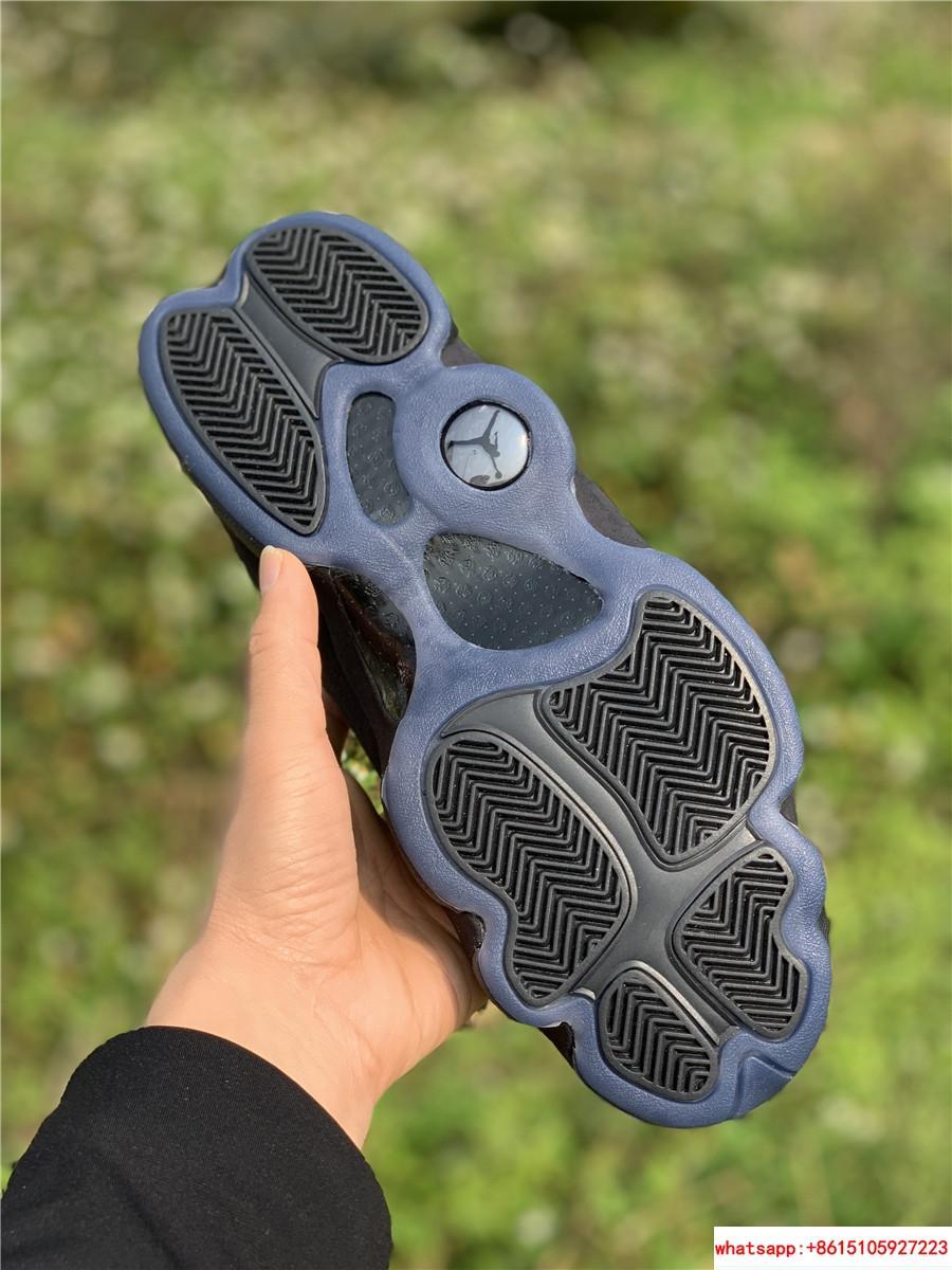 Nike Air Jordan 13 Retro Black Cap and Gown Men's Basketball Shoes 414571-012 14