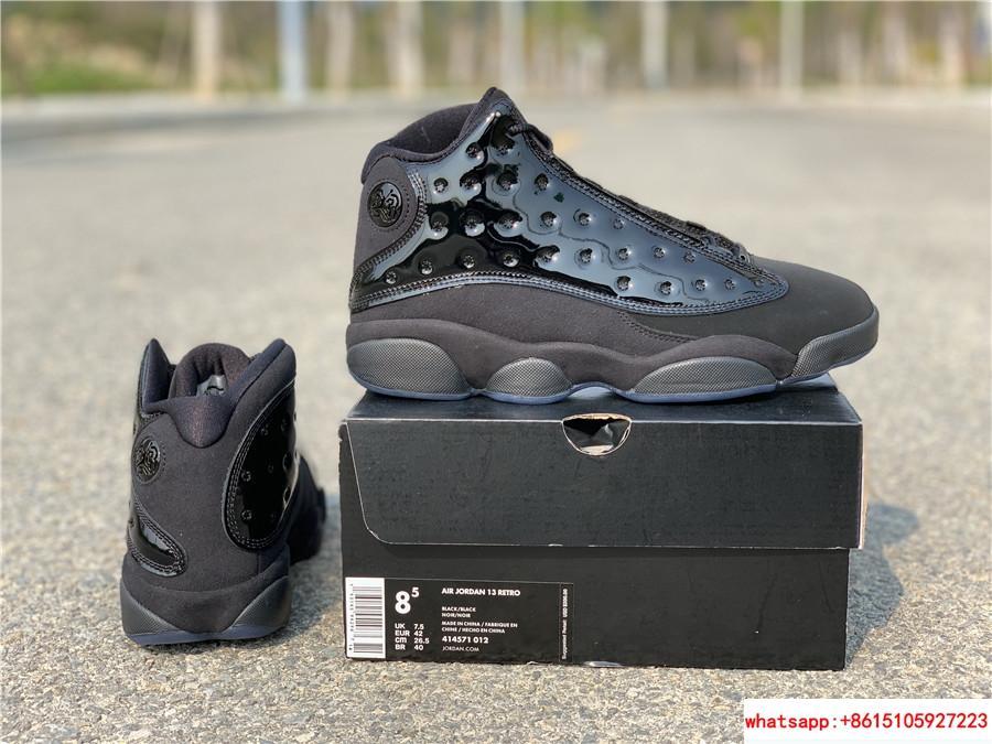 Nike Air Jordan 13 Retro Black Cap and Gown Men's Basketball Shoes 414571-012 18