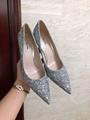 MIU MIU GLITTER FABRIC PUMPS 85 mm heel with crystals SI  ER  6