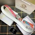 versace fluo barocco print palazzo belt versace  belts 4.0cm print