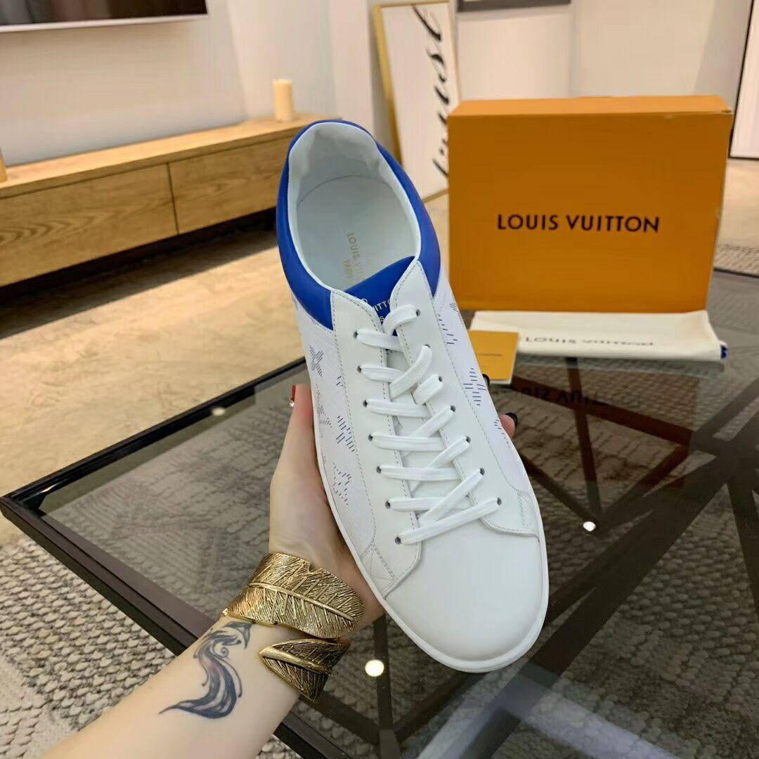 luxembourg sneaker blue  Monogram grained calf leather 1A5E0V    shoes      2