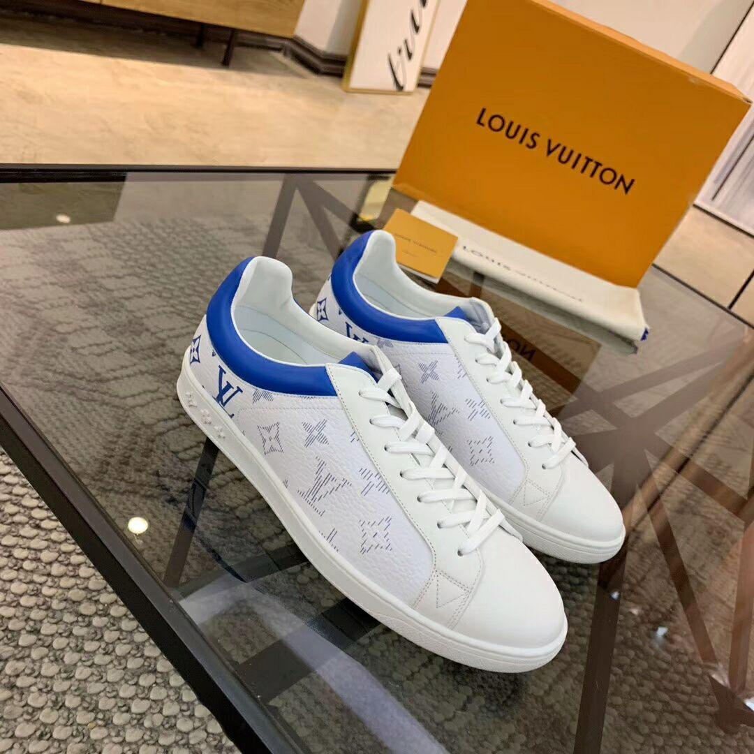 luxembourg sneaker blue  Monogram grained calf leather 1A5E0V    shoes      3