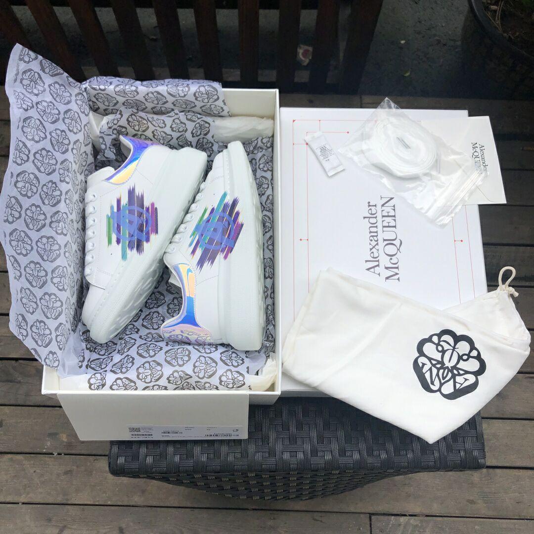 alexander         oversized sneaker mcuqueen white sneanker 6