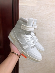 lv trainer sneaker boot Nuage White  1A5A07 lv shoes lv lsneaker