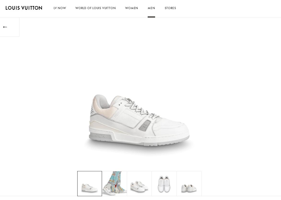 lv trainer sneaker Grained calf leather white lv sneaker 1A5PZO lv sneaker lv  2