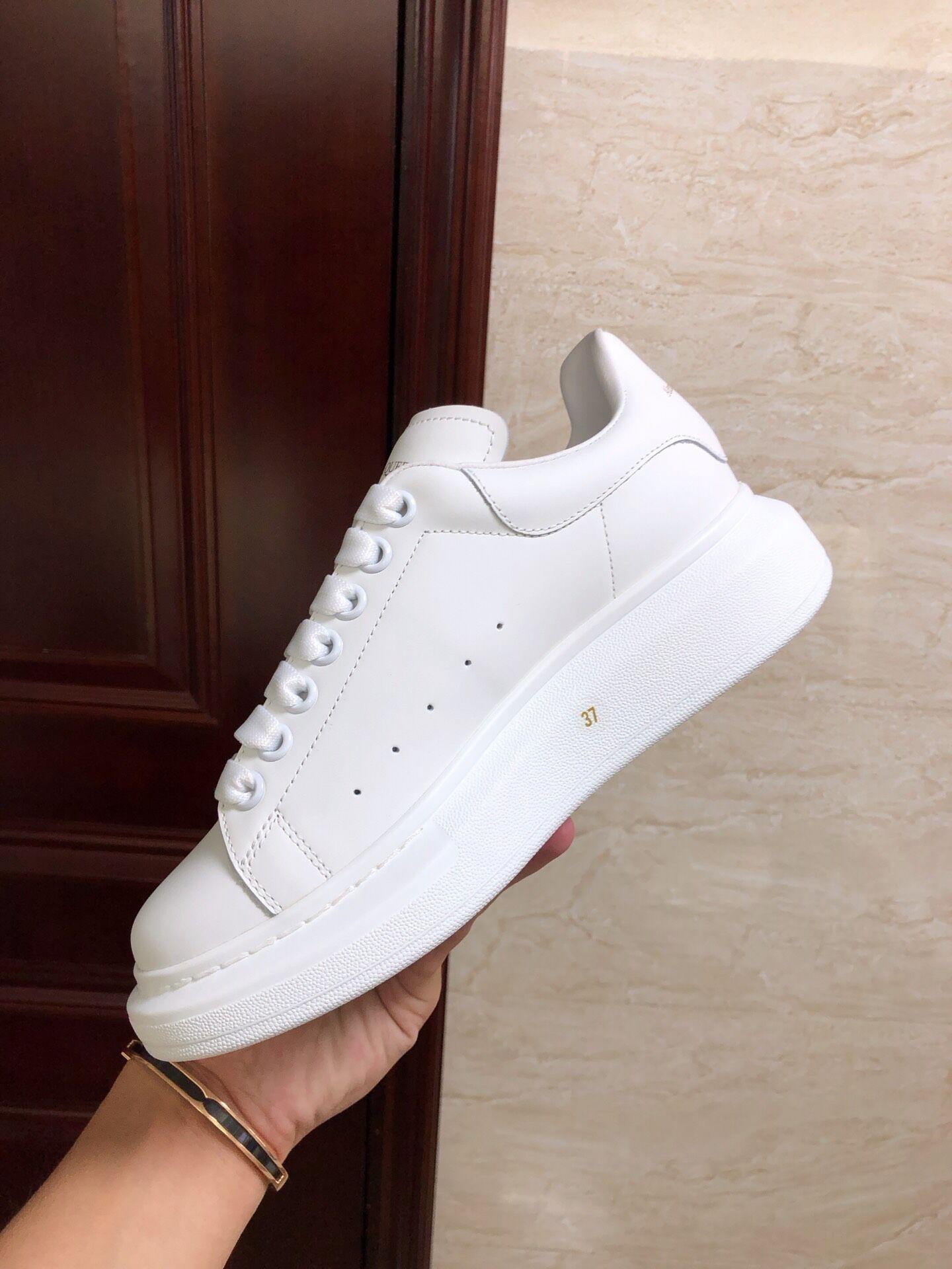 alexander mcqueen oversized sneaker white calfskin mcqueen sneaker  2