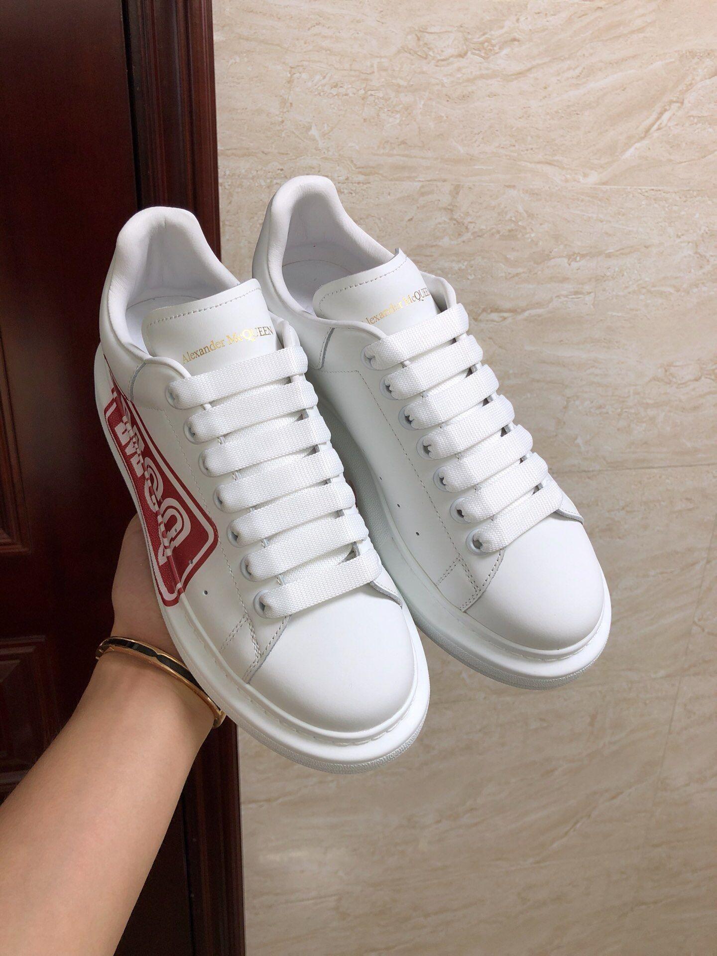 alexander mcqueen oversized sneaker white calfskin mcqueen sneaker  3