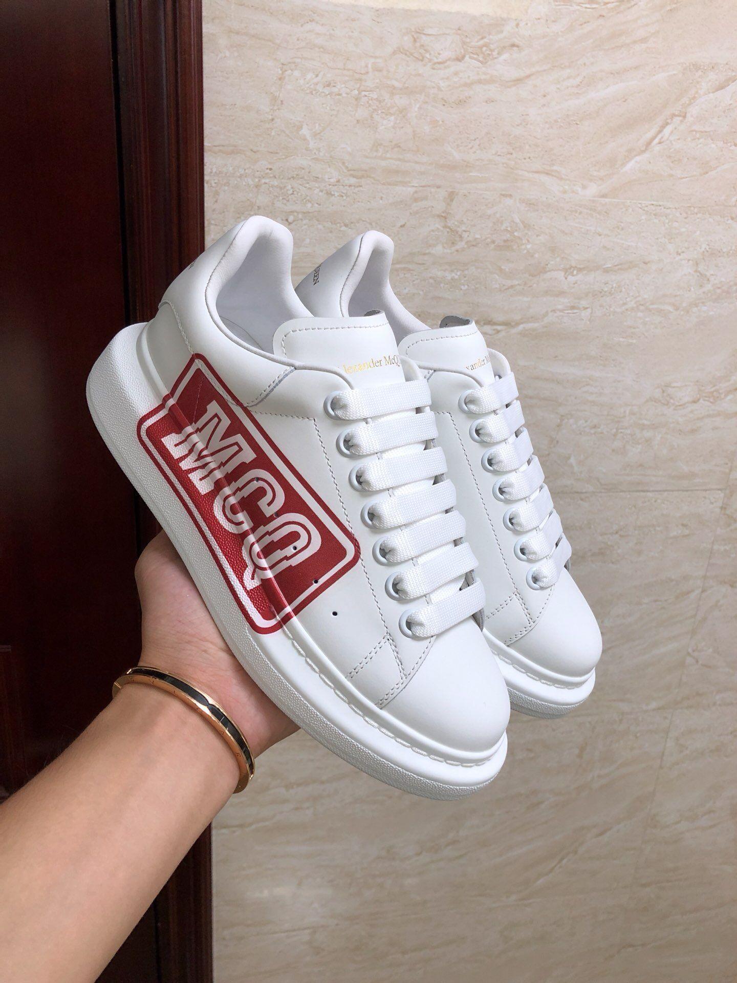 alexander mcqueen oversized sneaker white calfskin mcqueen sneaker  4