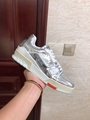 lv trainer sneaker Metallic leather silver lv men sneaker lv sneaker  1
