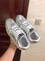 lv trainer sneaker Metallic leather silver lv men sneaker lv sneaker  9
