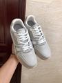lv trainer sneaker Grained calf leather Nuage White 1A5A0P lv shoes lv sneaker  4