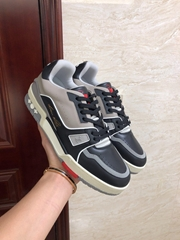 lv trainer sneaker Calf leather Black 1A54H5 lv sneaker lv shoes