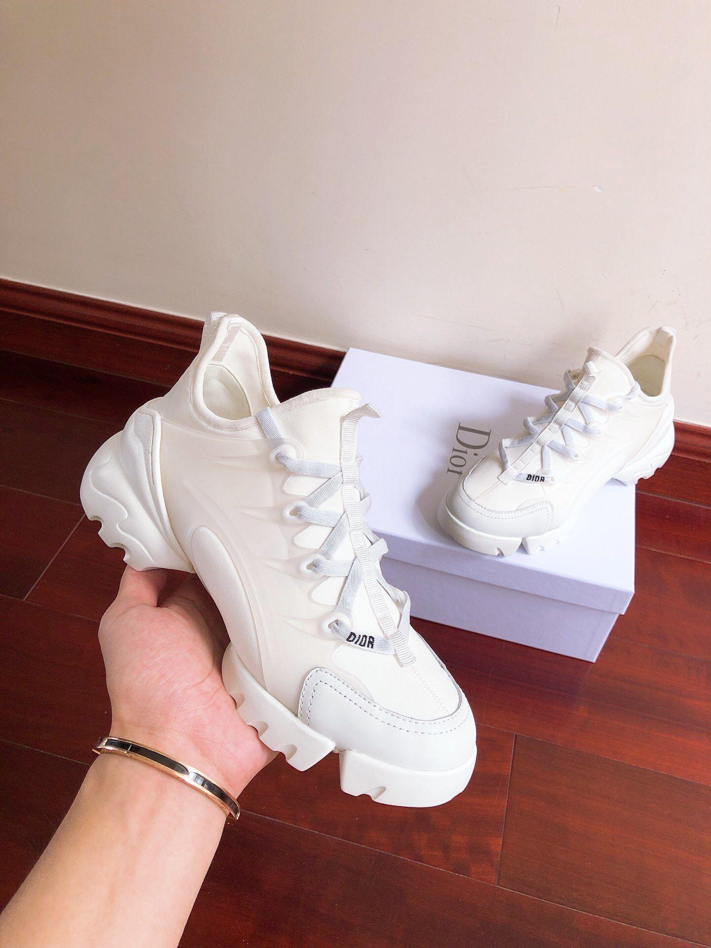 DIOR D-Connect sneaker in white neoprene dior sneaker dior women sneaker shoes  1