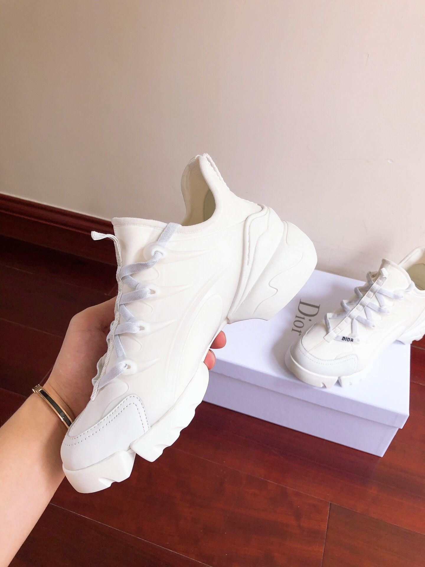 DIOR D-Connect sneaker in white neoprene dior sneaker dior women sneaker shoes  3