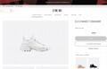 DIOR D-Connect sneaker in white neoprene dior sneaker dior women sneaker shoes  2
