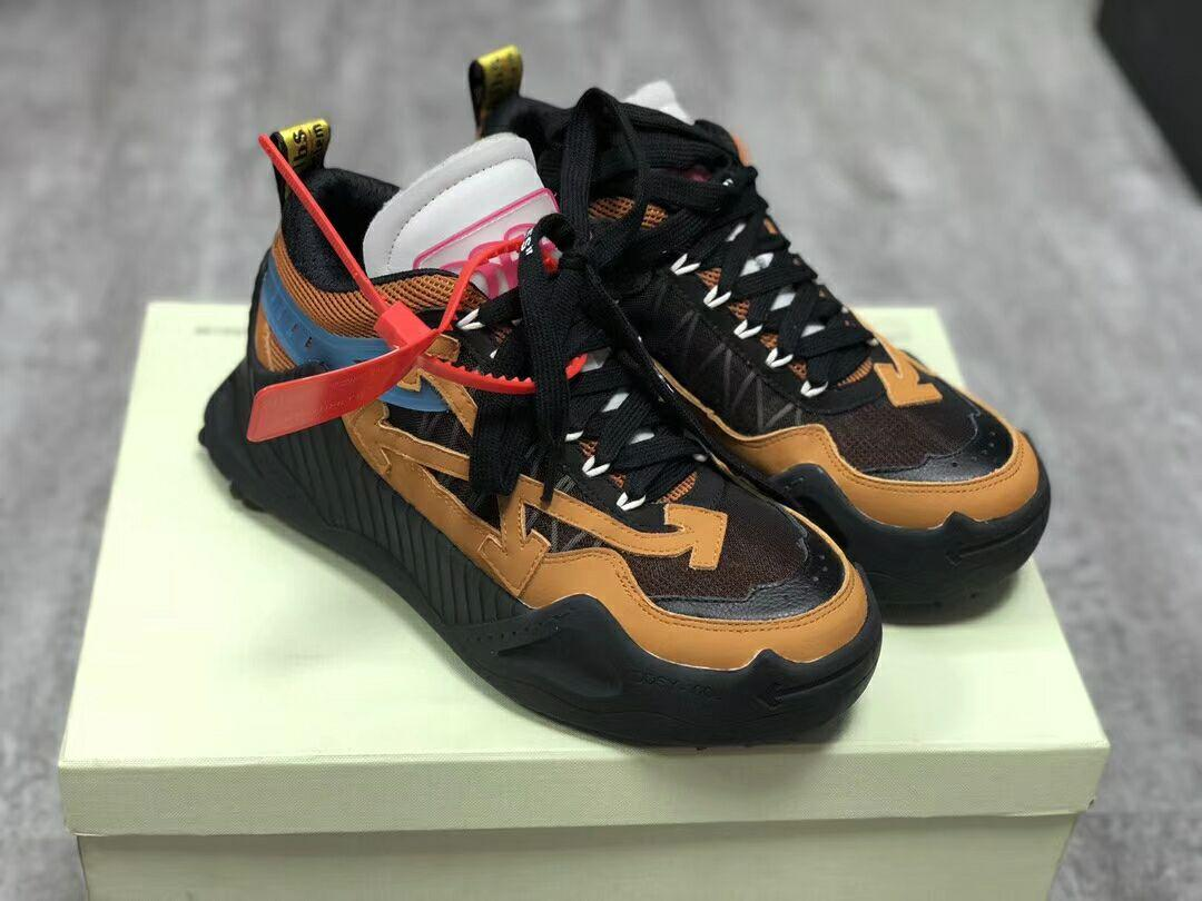 Off-White Black & Tan Odsy-1000 Sneakers Low-top offwhite sneaker  9