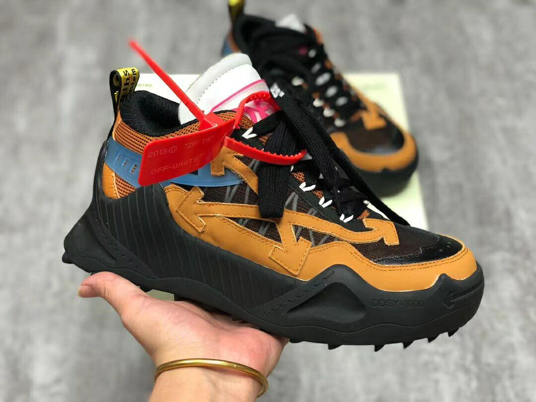 Off-White Black & Tan Odsy-1000 Sneakers Low-top offwhite sneaker  1