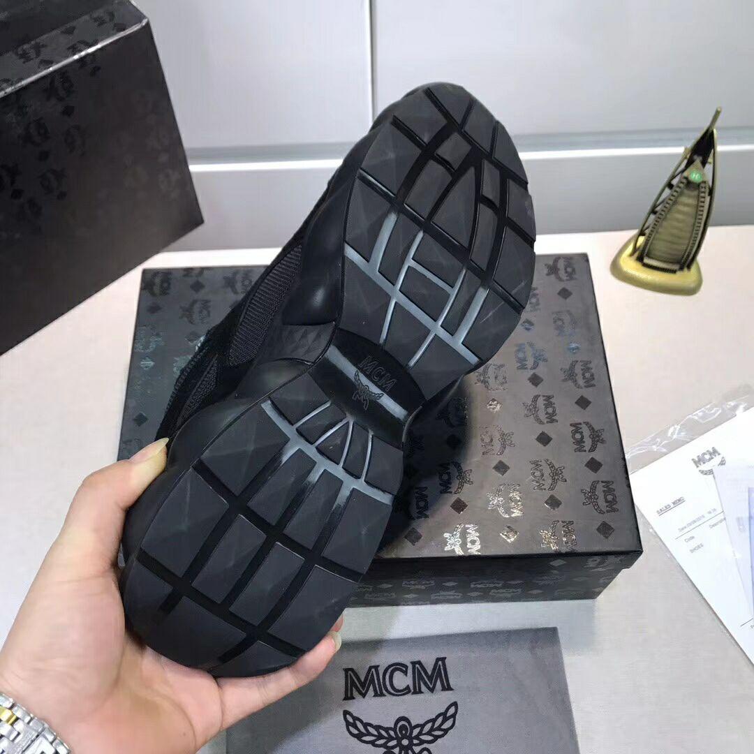 MCM Men's Himmel Low Top Sneakers in Suede MCM sneaker mcm shoes  4