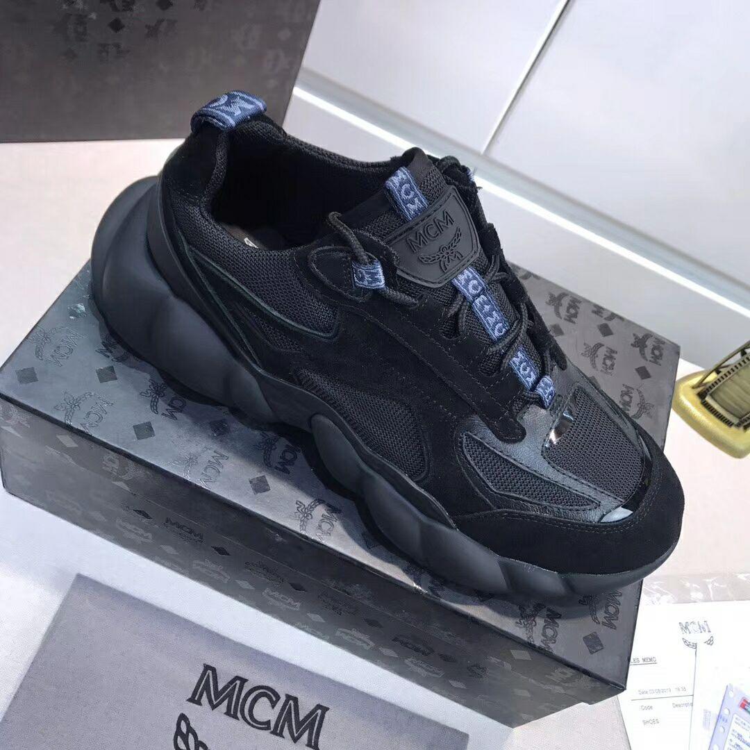 MCM Men's Himmel Low Top Sneakers in Suede MCM sneaker mcm shoes  5