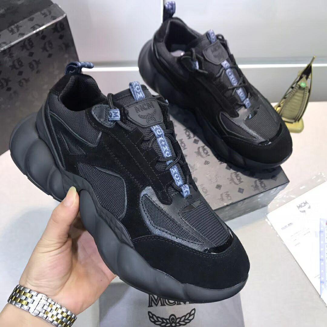 MCM Men's Himmel Low Top Sneakers in Suede MCM sneaker mcm shoes  1