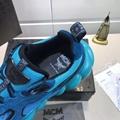 MCM Men's Himmel Low Top Sneakers in Suede blue  3