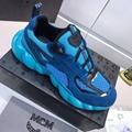 MCM Men's Himmel Low Top Sneakers in Suede blue  8